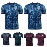 Mexique 2021 Pre Match Training Soccer Jersey Argentine Espagne Allemagne Les hommes portent des chemises de football colombiennes