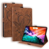 PU Leather Tablet Cases for Apple iPad Mini 6 5 Air 4 3 2 1 Pro 11 10.5 9.7 inch Samsung Galaxy Tab A7 Lite T220 T290 T500 Dual View Angle Butterfly Printing Flip Stand Cover