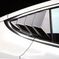 2 قطع سيارة الخلفية نافذة مثلث ملصقا ل tesla نموذج 3 الخارجي ألياف الكربون ملصقا مصراع الديكور تعديل آوصان