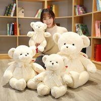Hot Quality White Rose Fragrance Angel Bear Plush Toy Soft Stuffed Cartoon Animal Teddy Bear Doll Valentines Gift For Girls