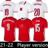 لاعب نسخة 2021 Polska Soccer Jersey Home Away 20 21 الأحمر الأبيض Milik Pol Lewandowski Piszczek و الفانيلة قمصان كرة القدم الزي الرسمي