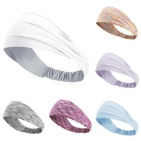 Hair Accessories Fashion Absorbing Sweat Headband Colorful Elactic Fitness Sweatband Stretchable Female Hairband For Women