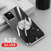 Plating Frame Magnetic Ring Holder Cases For iPhone 13 12 Mini 11 Pro XS Max XR X 7 8 Plus SE Soft Silicone Stand Clear Cover