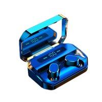 Wireless Earbuds Bluetooth 5.0 Earphones HIFI Stereo IPX7 Waterproof Fingerprint Touch LED Display In-ear Wireless Headphones