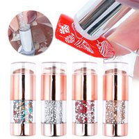 NAP015 Silicone dual end Nail Art Stamper Kit French nails stamping set For customs printing stamp design manicure tools