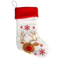 عيد الميلاد سانتا كلوز الجوارب ثلج هدية حقيبة التطريز عيد الميلاد تخزين شجرة شنقا الديكور للحزب ديكور الحلي 6 أنماط CCD10468