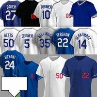 50 Mookie Betts Los 22 Clayton Kershaw Jerseys de béisbol Cody Bellinger Angeles Julio Urias Manny Machado Corey Seaver Buehler Trevor Bauer
