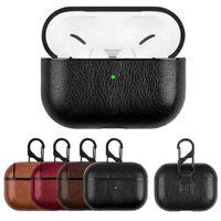 PU cuoio in pelle PU Protector auricolare per Apple AirPods 1 2 3 Pro Designer per cuffie wireless auricolare con gancio Accessori per cuffie