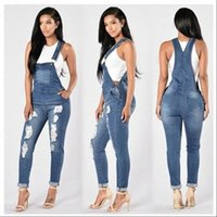 Women Romper Summer Womens Denim Jumpsuits Overalls Sexy Jeans ladies spring Office Casual Pocket Pencil Pants elegant jumpsuit