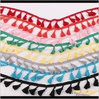 Arts et métiers 5YARD LOT fringes Tassel Garniture Frangé Ruban pour la décoration de mariage Dentelle Tissu Doi DIY Couture Rideaux ACCESSOIRES H 9ZAVH