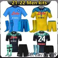 الرجال عدة 2021 2022 Insigne Napoli Soccer Jersey Naples Kits 21 22 Zielinski Maradona Mertens Callejon Player Koulibaly Compotts قمصان الكبار مجموعات موحدة