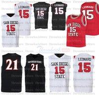 Benutzerdefinierte San Diego State College Basketball-Trikots 15 Leonard 12 Che Evans 5 Lamont Butler 0 Keshad Johnson