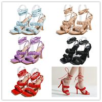 Sexy Bandage Sandals PU Wedding High Heels Bridal Shoes Bradesmaid Prom for Lady Shoes High heel Sandals Square Head Fold Cross Strap Shoes