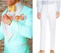 Handsome Embossing Groomsmen Shawl Lapel Groom Tuxedos Mens Wedding Dress Man Jacket Blazer Prom Dinner suits (Jacket+Pants+Tie)W505