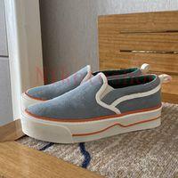 التنس 1977 الانزلاق على حذاء رياضة إيطاليا قماش الفضلات حذاء البيج الأزرق غسلها الجاكار الدينيم المرأة الأحذية الآس المطاط وحيد المصممين المطرزة خمر عارضة أحذية