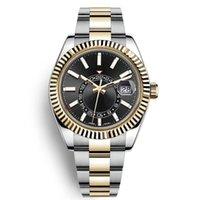 Высокое качество Неба Делюкс Мужчины Часы Автоматическая Механическая Мода Бизнес Нержавеющая Сталь Золото 2813 Движение Светающие Водонепроницаемые Часы