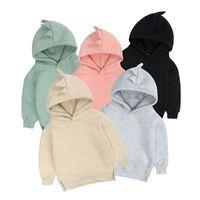 Hoodies & Sweatshirts 2021 Kids Tales Arrival Spring Warm Fleece Dino Baby Boys Girls Hoody Older Children Pullover Outerwear 6M-12Y