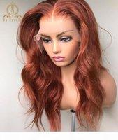 Gingembre orange perruque humaine perruque coloré 360 dentelle perruque frontale vague de corps pleine dentelle perruques de cheveux humains pour femmes noires remy