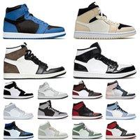 Jordan1s Jorden 1 Retro Jumpman Basketball Shoes Air Jordan 1s Off White Dark Marina Blue High University OG Mocha Mid Carbon Fiber Seafoam Trainers Designer Sneakers