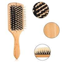 Naturalny drewniany masaż poduszki grzebieniowej pielęgnacja włosów i urody spa masażer do masażu antystatyczne szczotki głowy