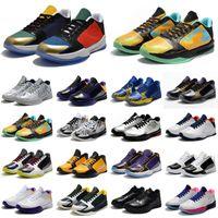 Mamba 5 Protro Kaos Erkek Basketbol Ayakkabıları 5 S V Lakers Koyu Knight Mor de Siyah Prelude Yüzük Spor Eğitmenler Erkekler Sneakers