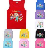 Cocomelon Cartoon Children's Sleeveless T-shrit Fashion Jj Boys Boys Girls Casual Top Tees Clothes Kids Sports Summer Students Clothing G763314