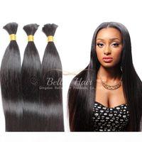 Человеческие волосы Weaves бразильские волосы для волос человеческие наращивания волос шелковистые прямые полные пучки Bellahair падение доставки