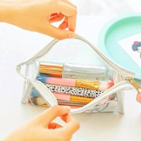 Storage Bags Cute Transparent Cosmetic Bag Travel Makeup Case Zipper Organizer Pouch Toiletry Beauty Wash Waterproof