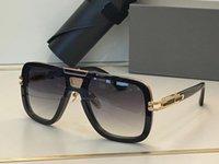 Erkekler GN BEM için Güneş Gözlüğü Yaz Stil Anti-Ultraviyole Retro Plaka Dikdörtgen Görünmez Çerçeve Moda Gözlük Rastgele Kutu