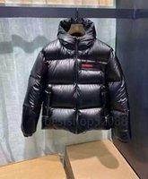 디자이너 PRAD 고품질 다운 재킷 BUNDGE 조끼 망 여성 커플을위한 짧은 겨울 동향 90 % 하얀 오리 두꺼운 반짝 이는 2XL