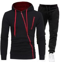 Men's Tracksuits Spring Sportswear 2-piece Hoodie + Pants Sports Suit Sweater Zipper Clothing Size M-3XL