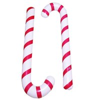Inflatable Christmas Canes Classic Lightweight Hanging Decoration Lollipop Balloon Xmas Party Balloons Ornaments Adornment Gift 88cm 35inch HY0175