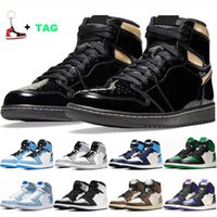 1 1s Top Quality TWIST Basketball Shoes Lucky Green Volt Gold Mens Womens Jumpman Sport MID Smoke Grey Obsidian UNC Trainers Sneakers 36-46