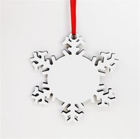 Sublimation Wooden Snowflake Christmas Ornaments DIY Blank Wood Snowflakes Plain White Double Sides Stamping Card Xmas Tree Pendents KKA1650 1PDH MSIL