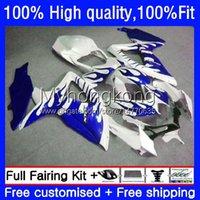Injection OEM For SUZUKI GSXR-600 GSXR600 GSXR-750 2008 2009 2010 Bodys 22No.182 GSX-R600 750CC 600CC GSXR750 Blue flames 08 09 10 K8 GSXR 600 750 CC 2008-2010 Fairing