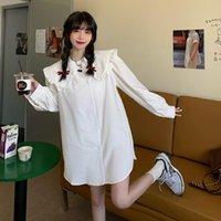 Women's Blouses & Shirts 2021 Fashion Doll Collar Blusas Feminina Vero 4xl Plus Size Camisa Loose Brief Clothing