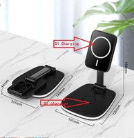 magsafe dual wireless fast chargers multifuctional folding bracket 15w can be 3in1 together magnetic field with retial packing