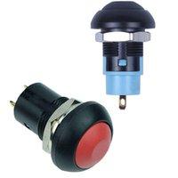 스마트 홈 컨트롤 On-Off 래칭 방수 12mm 푸시 버튼 스위치 SPST 2A IP67, 블랙