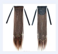 """114 Synthetic Ponytail Long Straight Hair 16"""" 22"""" Clip Ponytail Hair Extension Blonde Brown Ombre Hair Tail With Drawstring"""