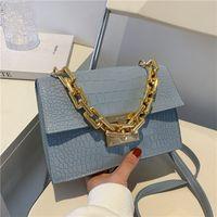 2021 luxurys bagsssummer luxurys bolsas femininasfashion novo moda cadeia de ombro messenger simples textura pequena quadrada pequena