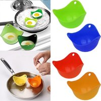 Nail Art Kits 4Pcs Set Steamed Bowl Multi-function Egg Box Silicone Poacher Cookware Poached Baking Cup Kitchen