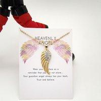 Collana del pendente delle ali di angelo per le donne