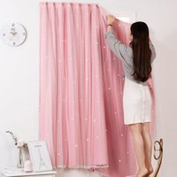 Curtain & Drapes Mcao Punch Free Curtains Blackout Window Home Bedroom Living Room Star Decoration Accessories Shading Blind TJ1620