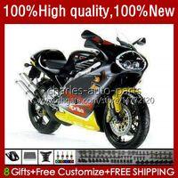 Kit de feiras para Aprilia RSV250RR RS-250 RSV250 RS RSV 250 RSV-250 95-97 24No.18 RS250RR RS250 RR 1995 1996 1997 RSV250R RS250R 95 96 97 Bodys Negros de Brilho da Motocicleta