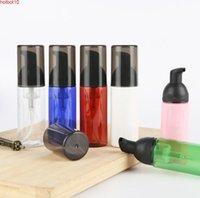 Leere 40 ml kosmetische Gesichtsreiniger Wäschecreme Kunststoff Haustier bunte flüssige Seifenschaumflasche mit weißer / schwarzen Schaumstoffpumpe SN024goods