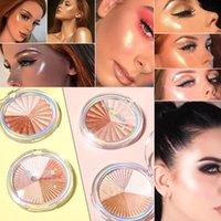 CmaaDu shimmer Highlighter Makeup Strengthen Silhouette Contour Baking Powder Brighten Long-lasting Cosmetics Face Bronzer Highlight
