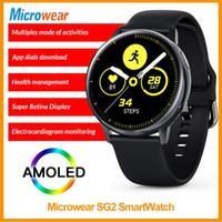 Smartwatch Microwear EKG + PGG 1.19inch Voll-Touch-Bildschirm Herzfrequenz-Karilisierung IP68 Wasserdicht S20 L12 L13 Smart Uhren