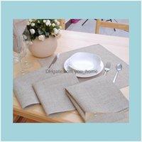 Napkin Textiles Home & Garden12 Pcs/Lot Poly Linen Cloth Table Dinner Napkins 42*42Cm(16.5X16.5 Inch) Wedding Part1 Drop Delivery 2021 Ihaqt