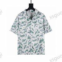 Shirt + shorts summer casual printed clothing Sets Hawaiian short dress suit big