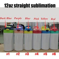 12oz Sublimation STRAIGHT Sippy Cups Kids Mugs Stainnless Steel Baby Bottle Drinking tumbler Double Wall Vacuum Feeding Nursing Bottles